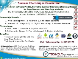 Android Summer Internship Techvolt Software Coimbatore - Techvolt Software Coimbatore - ScrollList.com